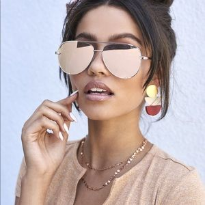 Quay High Key Gold/Rose sunglasses sunnies used